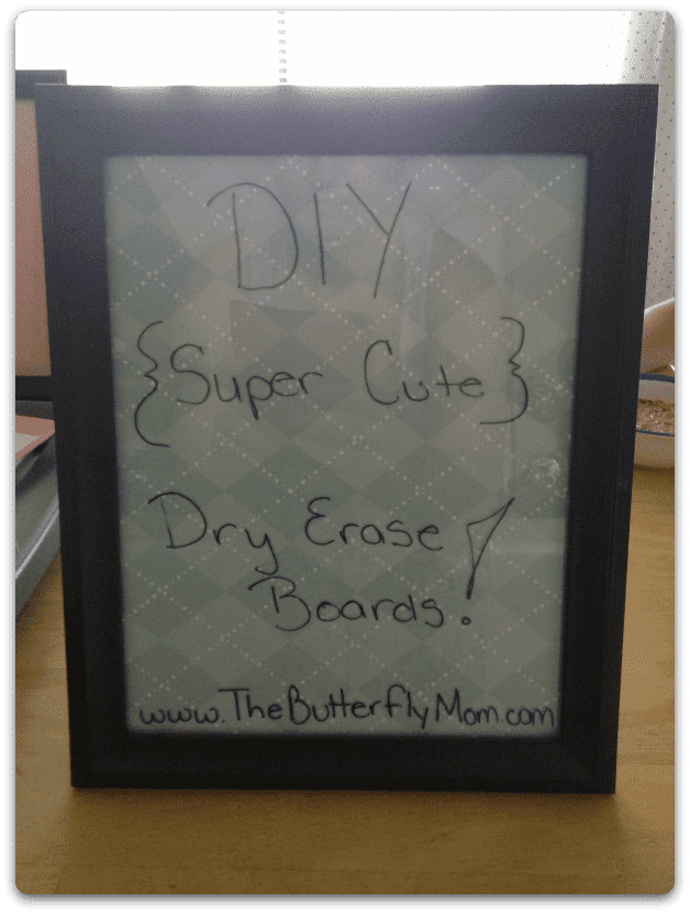 dollar store dry erase boards
