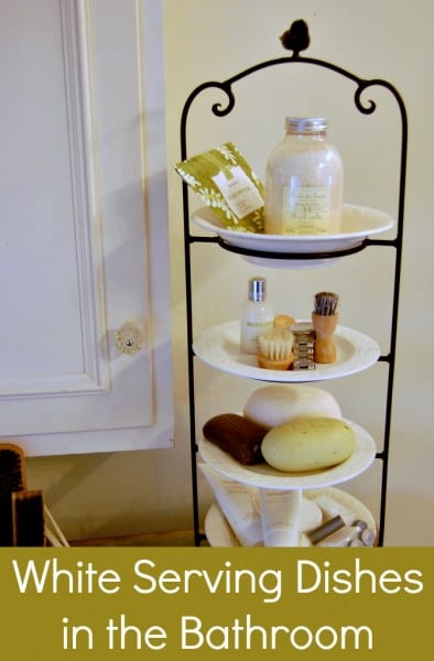 vertical dish tower for bathroom accessories