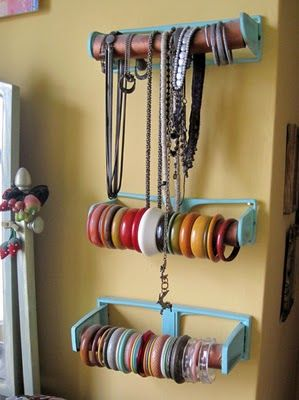 toilet roll jewelry holder