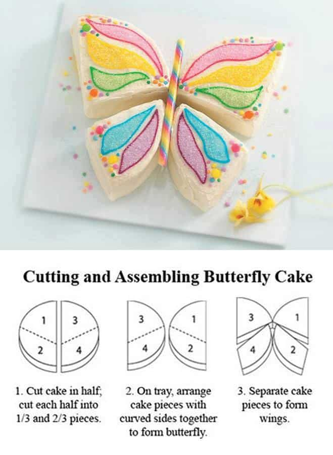 Cake Design Butterfly : How To Make A Butterfly Cake DIY Cozy Home