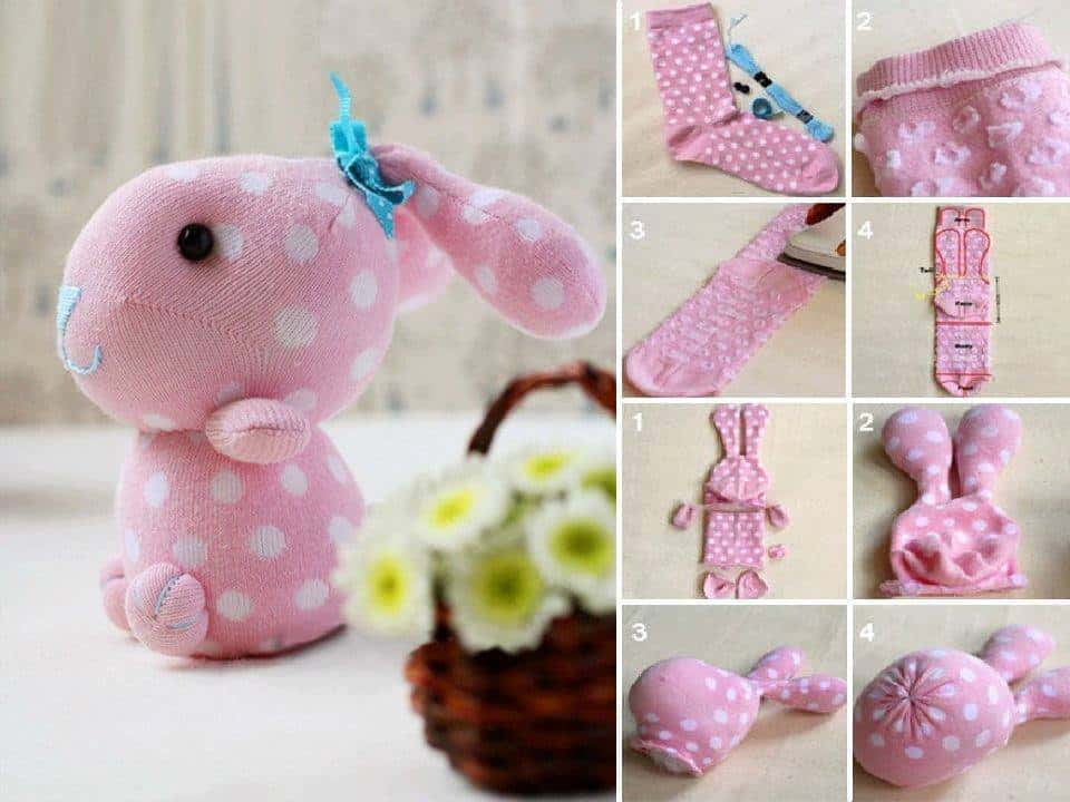 cute sock bunny craft tutorial