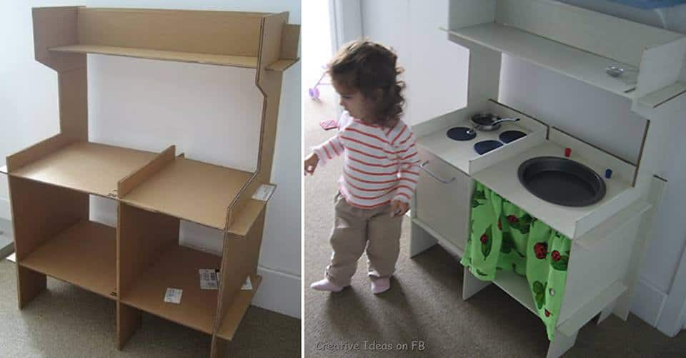 diy cardboard kitchen for kids - Diy Kids Kitchen