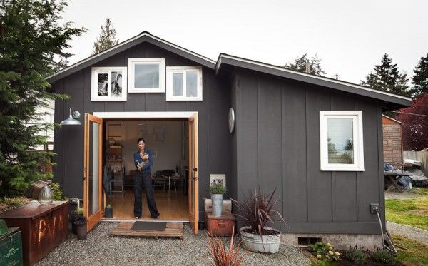 mini garage tiny home conversion