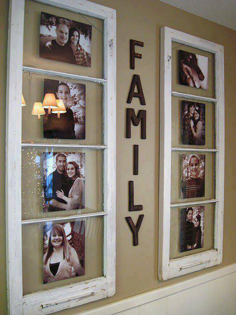 family photos display old windows