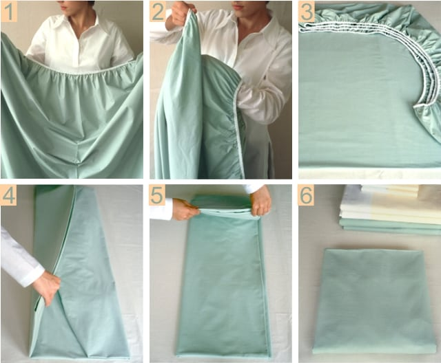how to fold fitted sheet