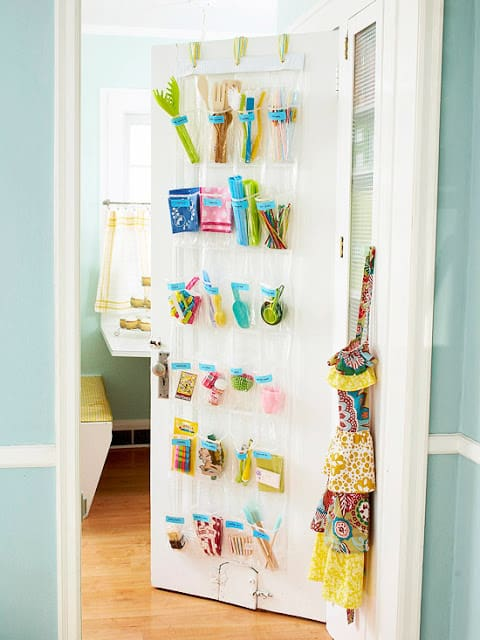 shoe organizer kitchen utensils