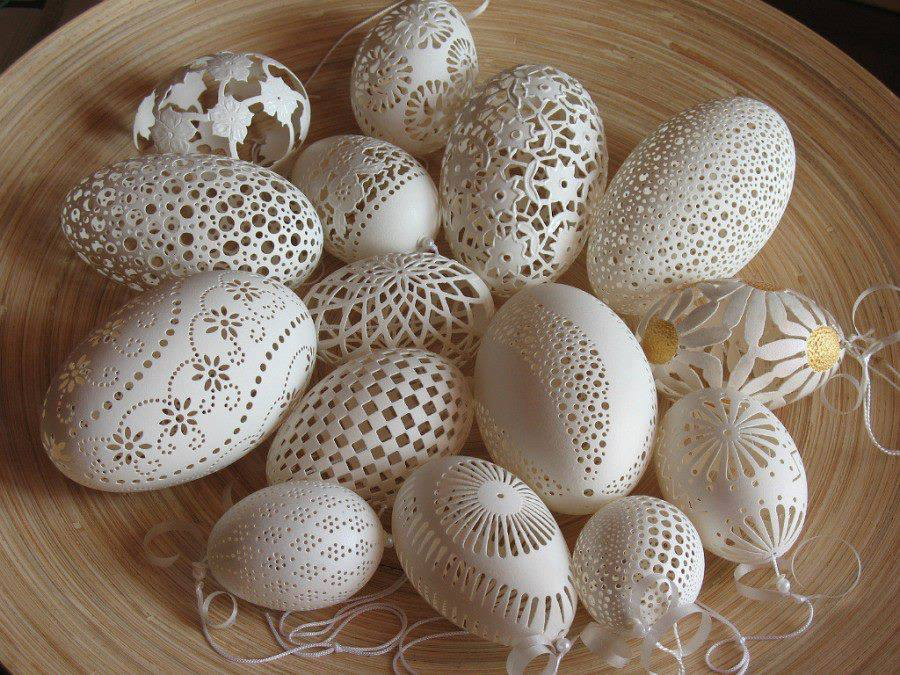 stunning egg shell art