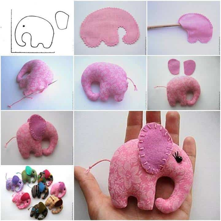 cute felt elephants craft