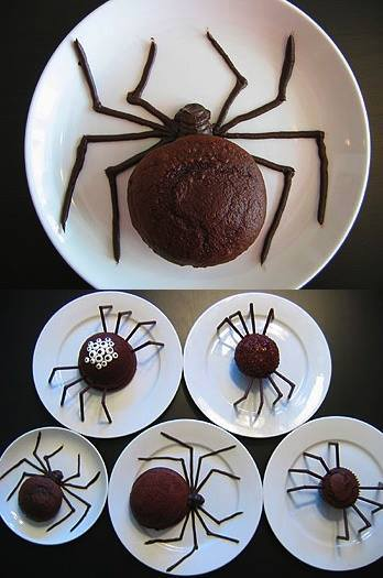 fun spider cakes for halloween