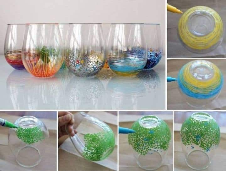 Turn glassware into works of art diy cozy home for Paint you can use on glass