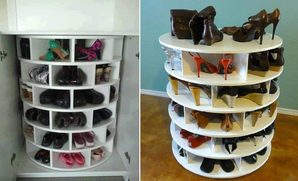 Bon Lazy Susan Shoe Rack Diy
