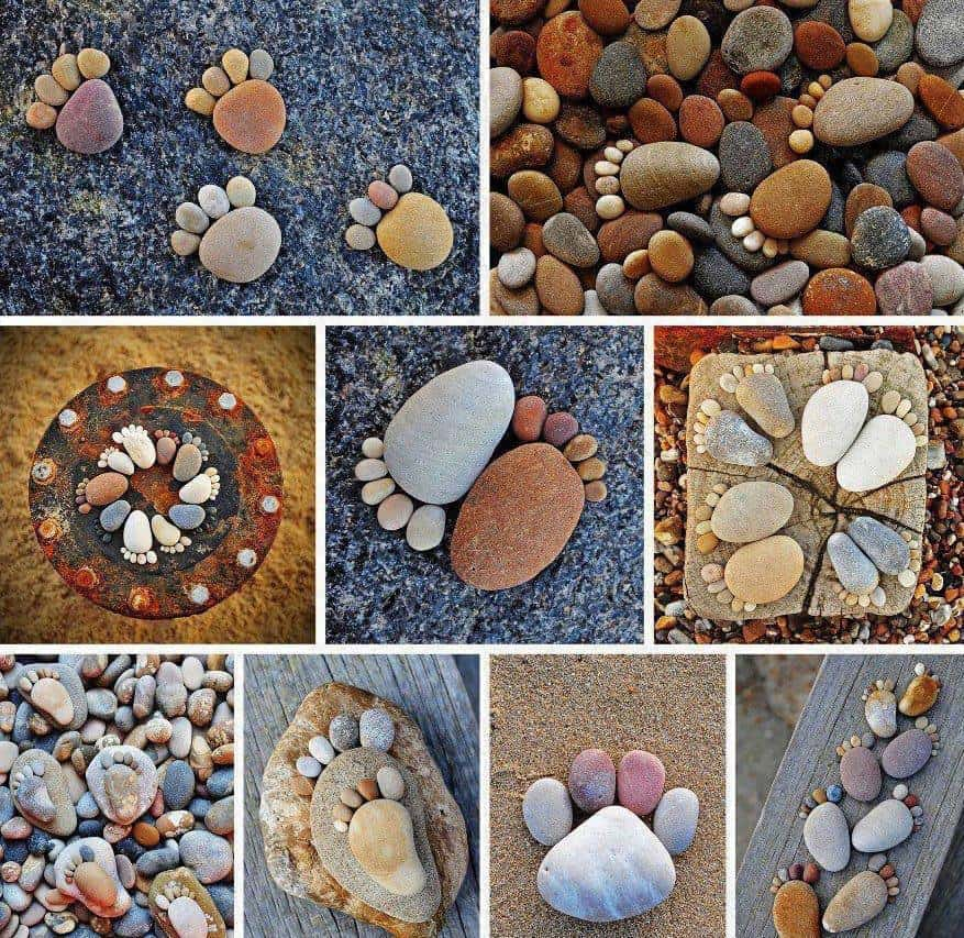 Pebble feet craft diy cozy home for River rock craft ideas