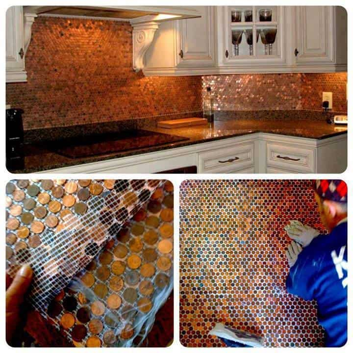 penny back splash