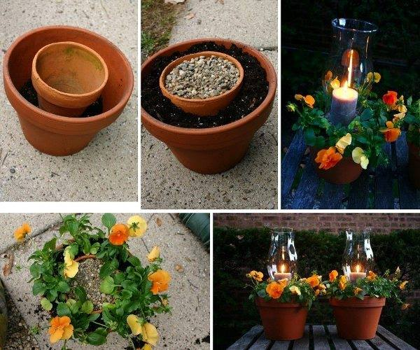potted candle planter diy
