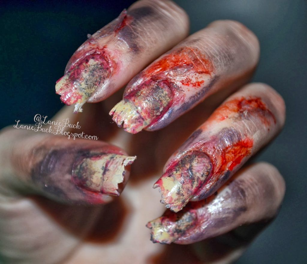 back from the grave halloween nails