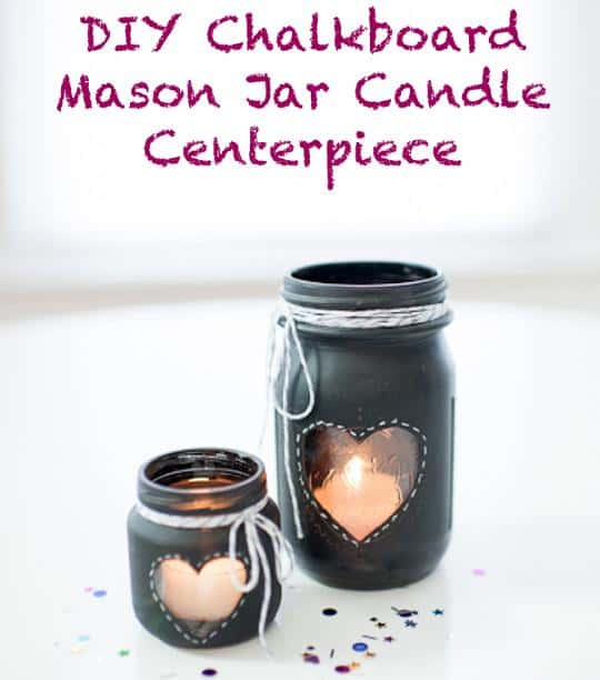 chalkboard paint heart mason jar