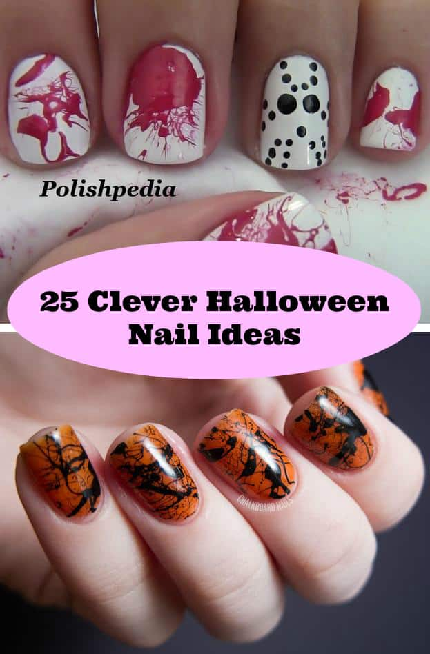 clever halloween nail ideas