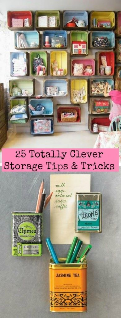 clever storage tips and tricks