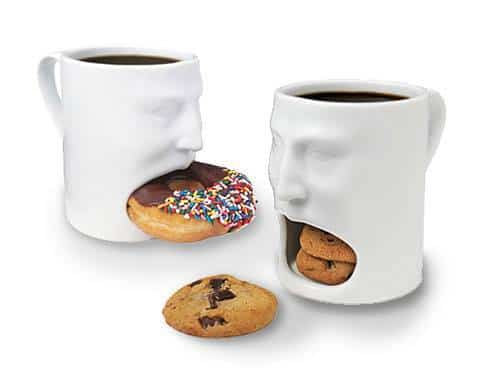 coffee mug mouth for cookies bagels