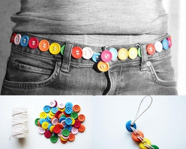diy button belt tutorial