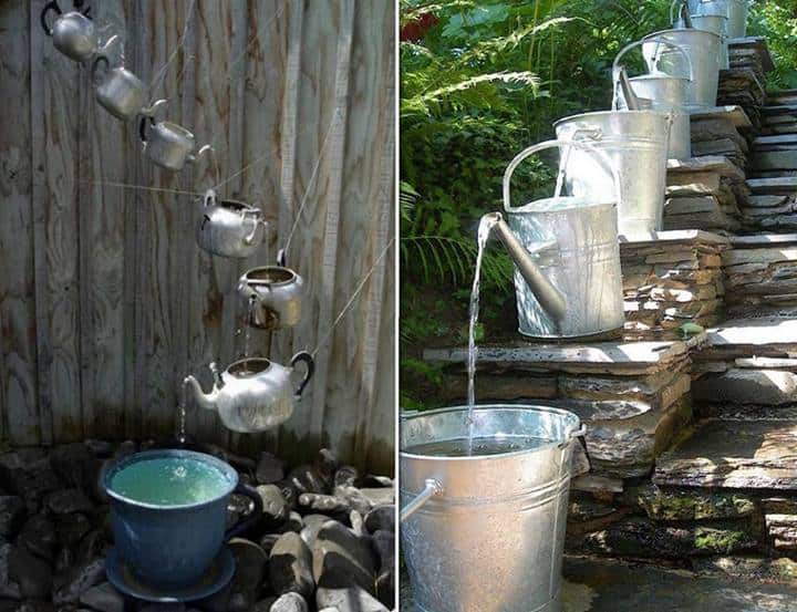 Diy cascading water feature diy cozy home Home water features