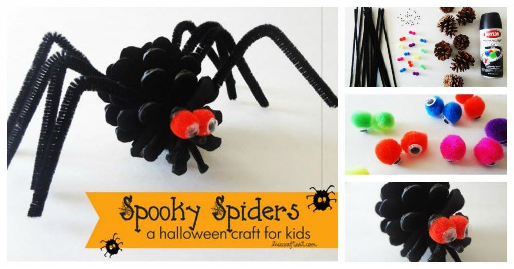 Easy Pine Cone Spiders Craft