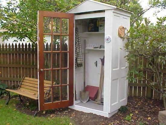 four doors into a garden shed diy cozy home