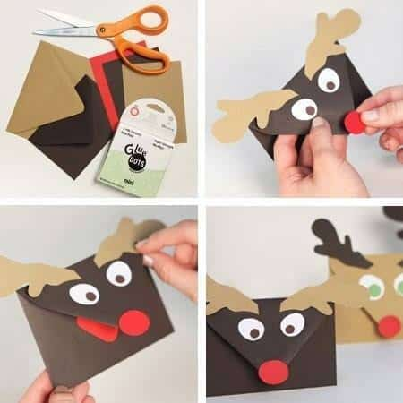 rudolph christmas envelopes