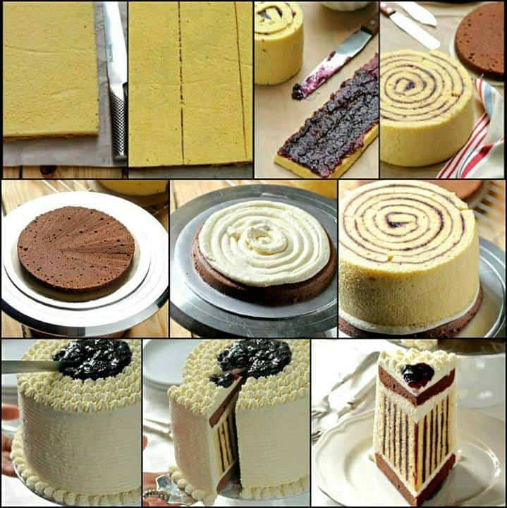 striped cake recipe