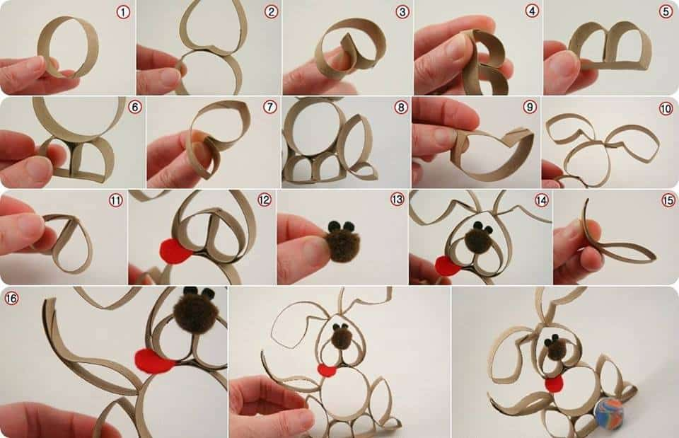 Paper Roll Puppy Craft