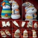 adorable sock snowmen