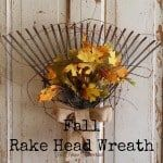 fall rake head wreath