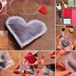 heart shaped tea bags