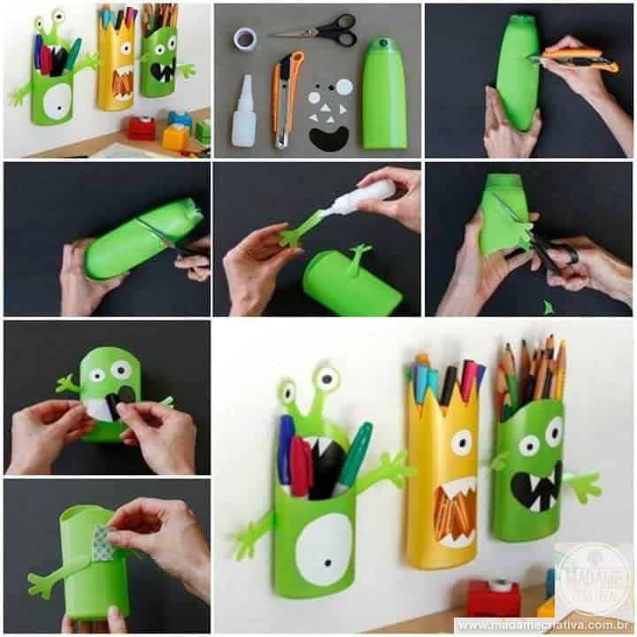monsters pencil holder craft