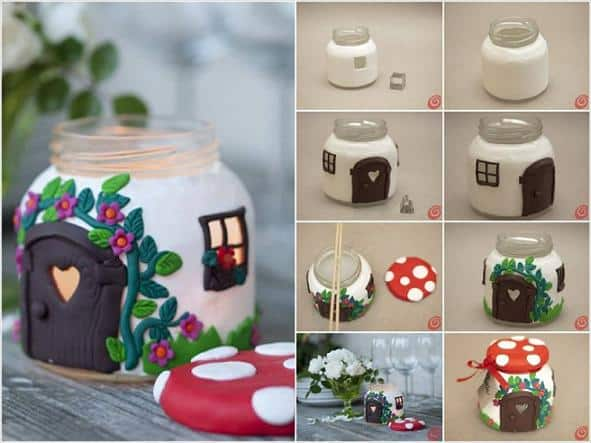 mushroom jar home craft