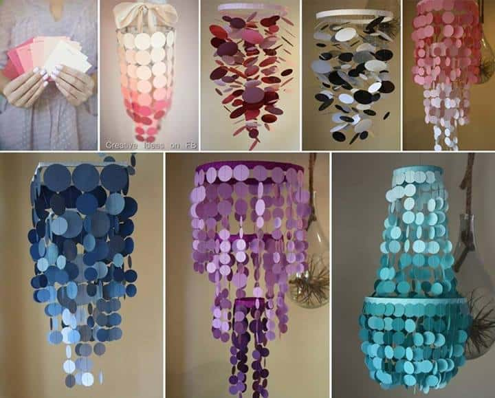 Paint swatch chandelier instructions aloadofball Image collections