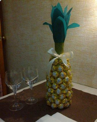 Champagne Bottle Candy Pineapple Diy Cozy Home