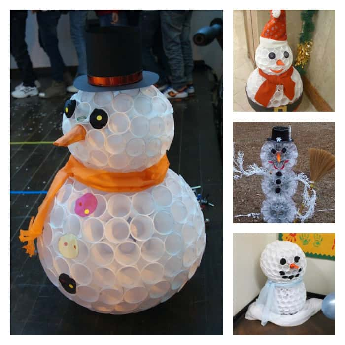 Plastic Cup Snowman Craft