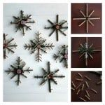 rustic snowflakes craft