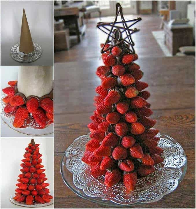 chocolate dipped strawberry christmas tree - Christmas Chocolate Covered Strawberries
