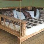 swing bed locust wood accents
