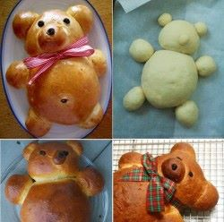 teddy bear bread