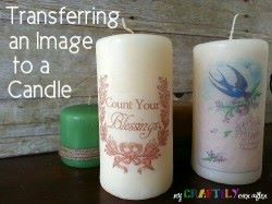 transfer image candle