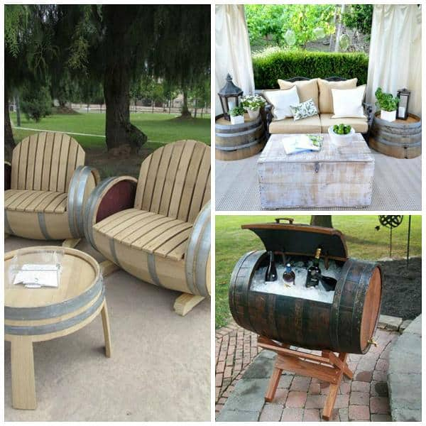 wine barrel decor ideas