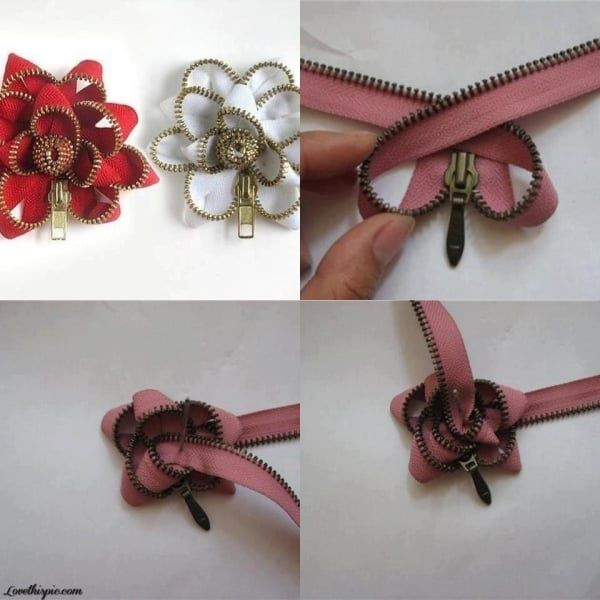 zipper flower tutorial2