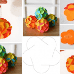3D paper ball ornament