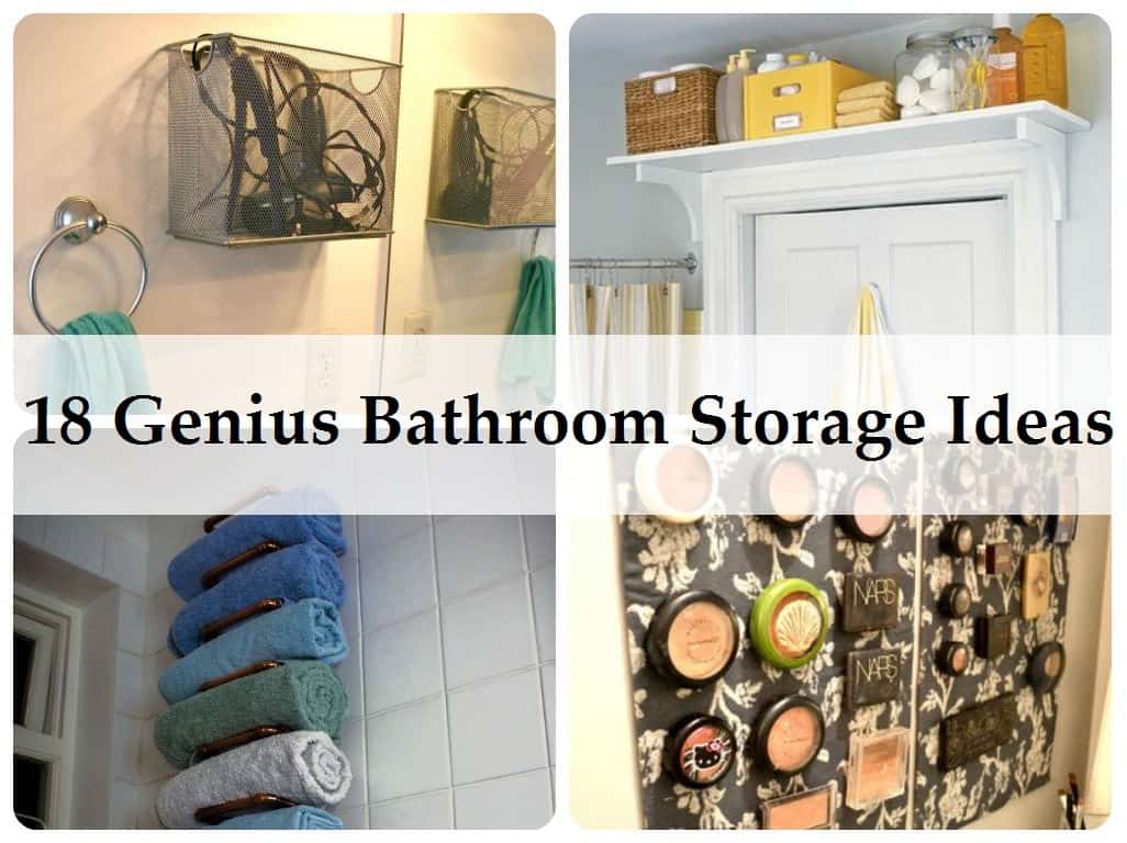 bathroom storage tips