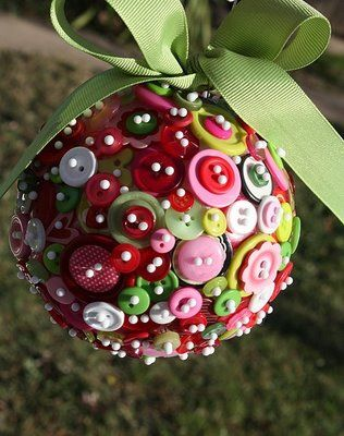 button ornament craft