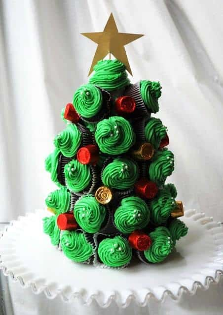 cupcake christmas tree recipe