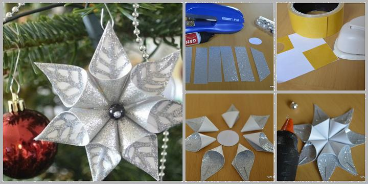 diy flower christmas ornament